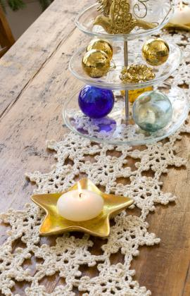 Learn how to create this lovely table runner for your holiday table