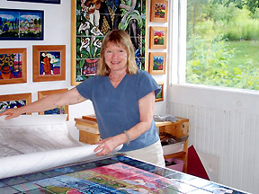 Carol Keiser in her workshop